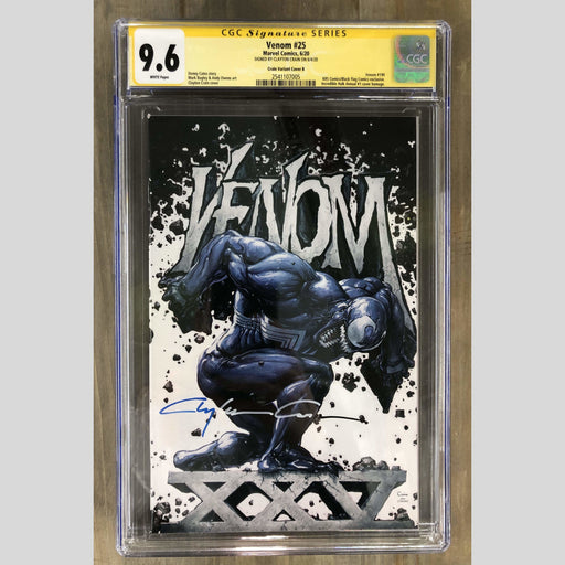 Cyn City Comics Comic Books Venom 25 Cover B CGC 9.6 (BLUE/WHITE/BLACK SIG)