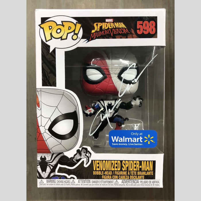 Cyn City Comics Signed POP Venomized Spider-Man Funko Pop Signed By Clayton Crain
