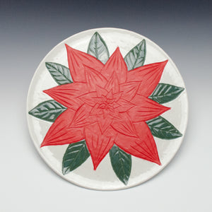 Poinsettia Serving Plate
