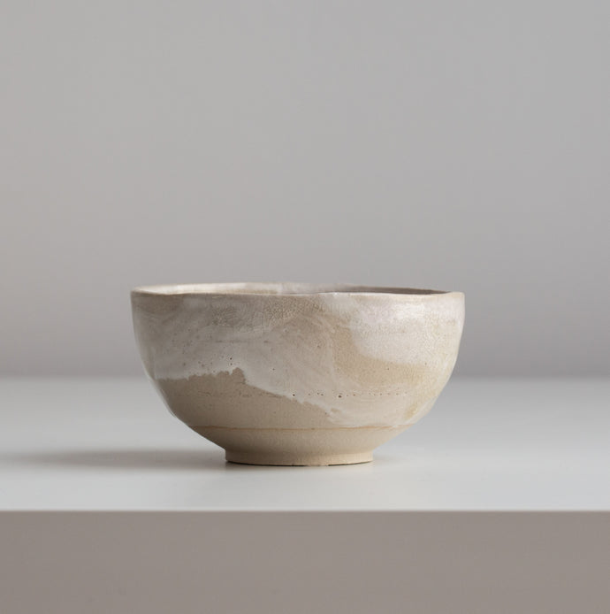 Small bowl made of clay.