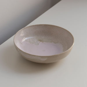 Wide Pink Bowl made of clay.