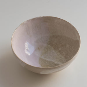 Small Pink Bowl made of clay.