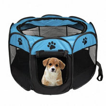 Load image into Gallery viewer, blue and black dog bed