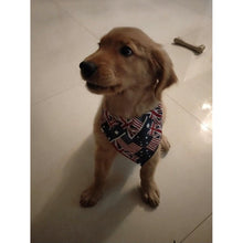 Load image into Gallery viewer, Dog Wearing A Personalized Bandana