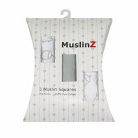 3 Pack Muslin Squares - Gift Pack