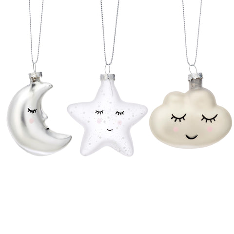 Sweet Dreams Baubles - Set of Three