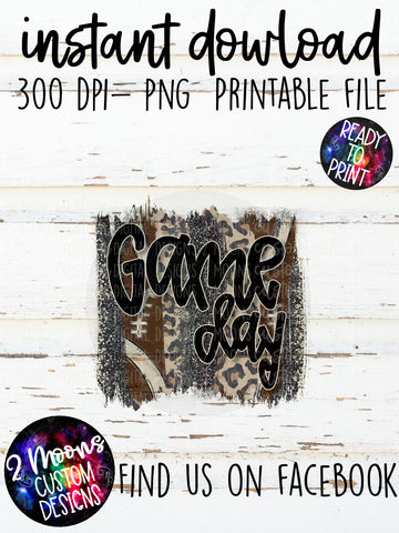 Game Day - Football Brushstroke - Handlettered