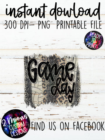 Game Day - Volleyball Brushstroke - Handlettered