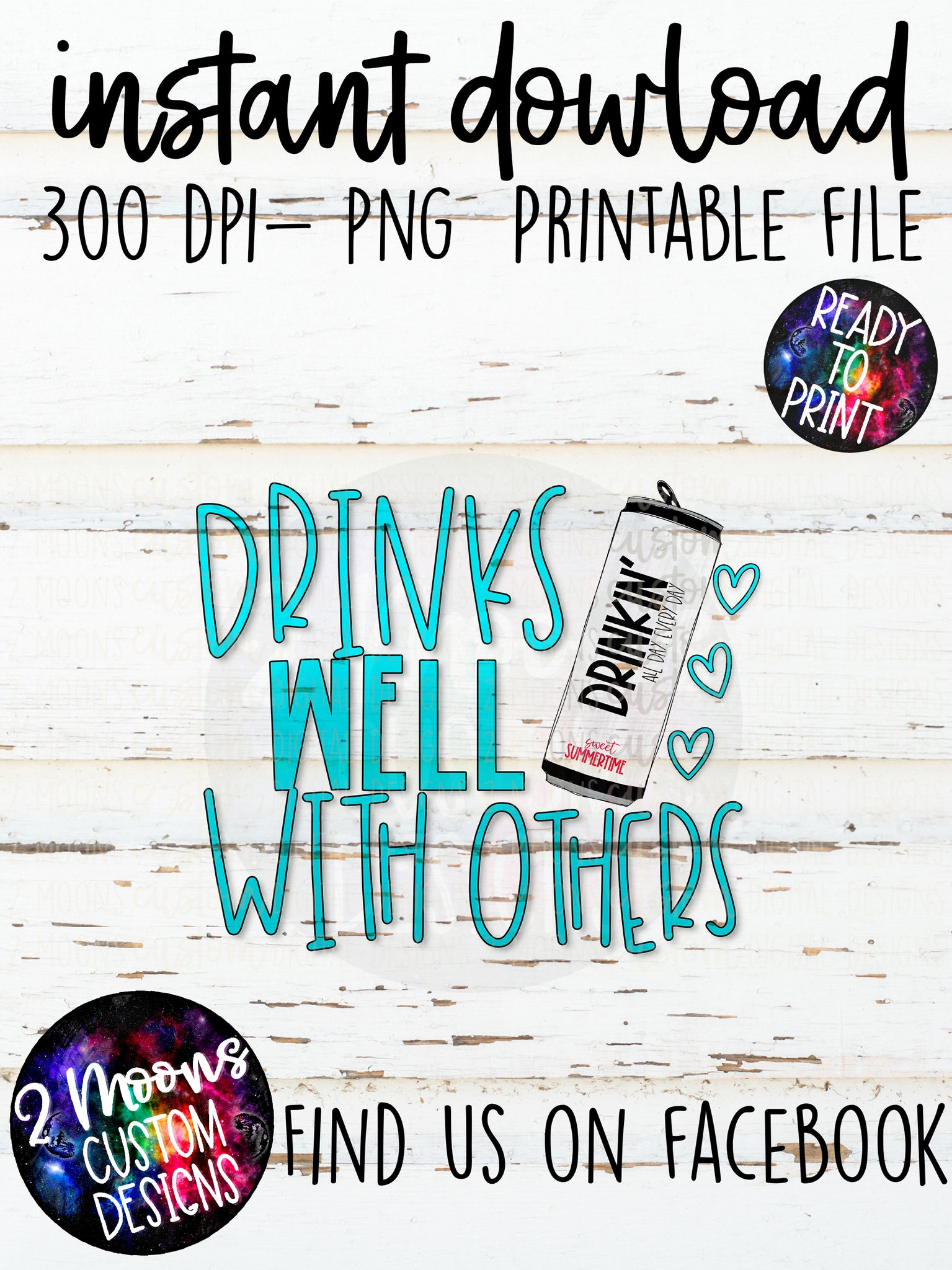 Drinks Well With Others - Summer Design