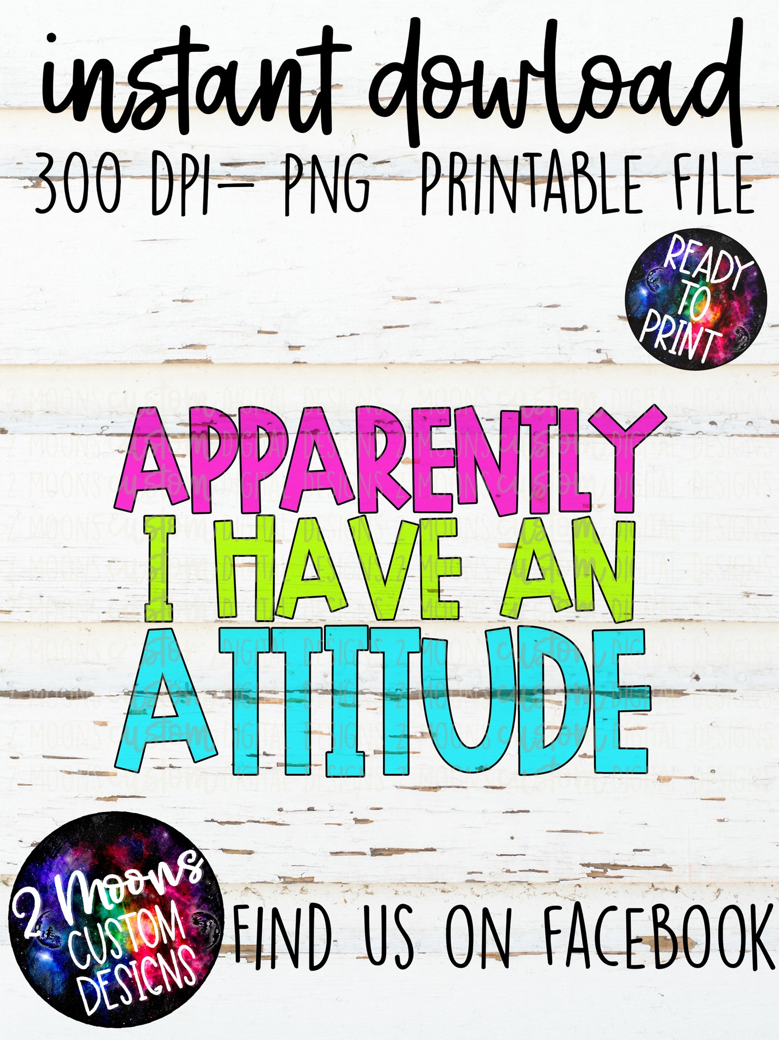 Apparently I have an Attitude- Quote Design