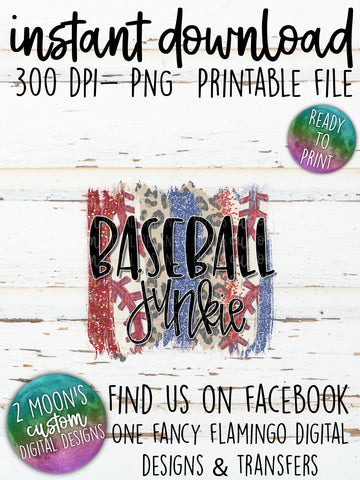Baseball Junkie- Brush Strokes
