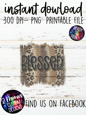 Blessed- Fall Design- Leopard Brushstroke