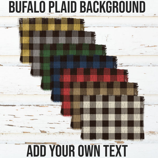 Buffalo Plaid Backgrounds- Add your own text