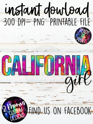 California Girl- Tie-Dye State