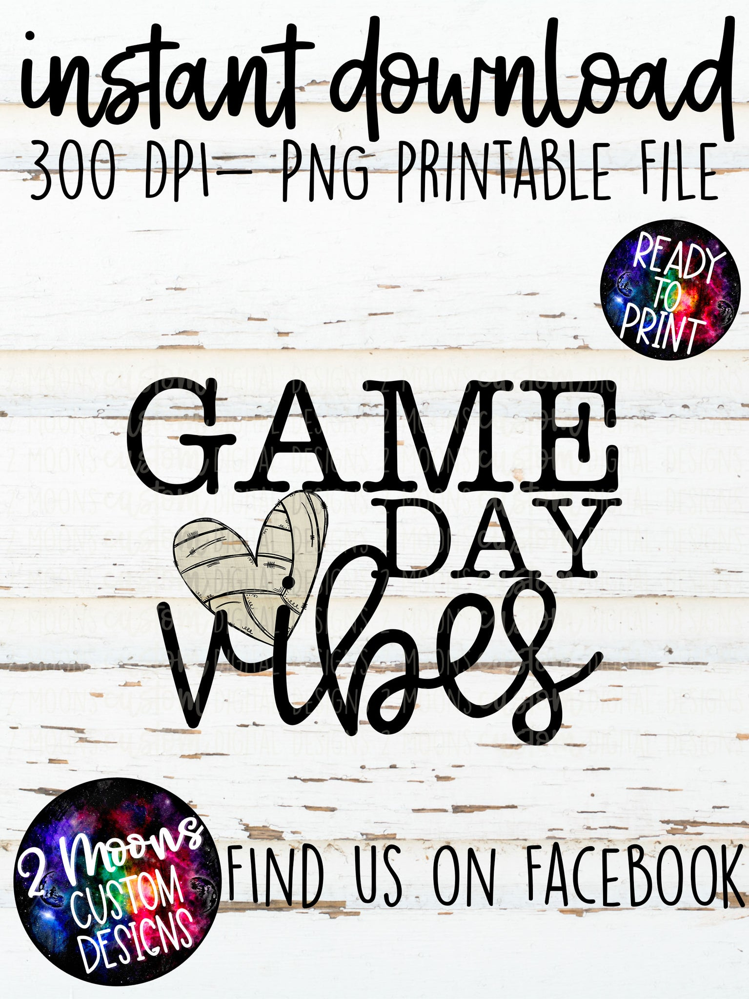 Game Day Vibes- Volleyball Design