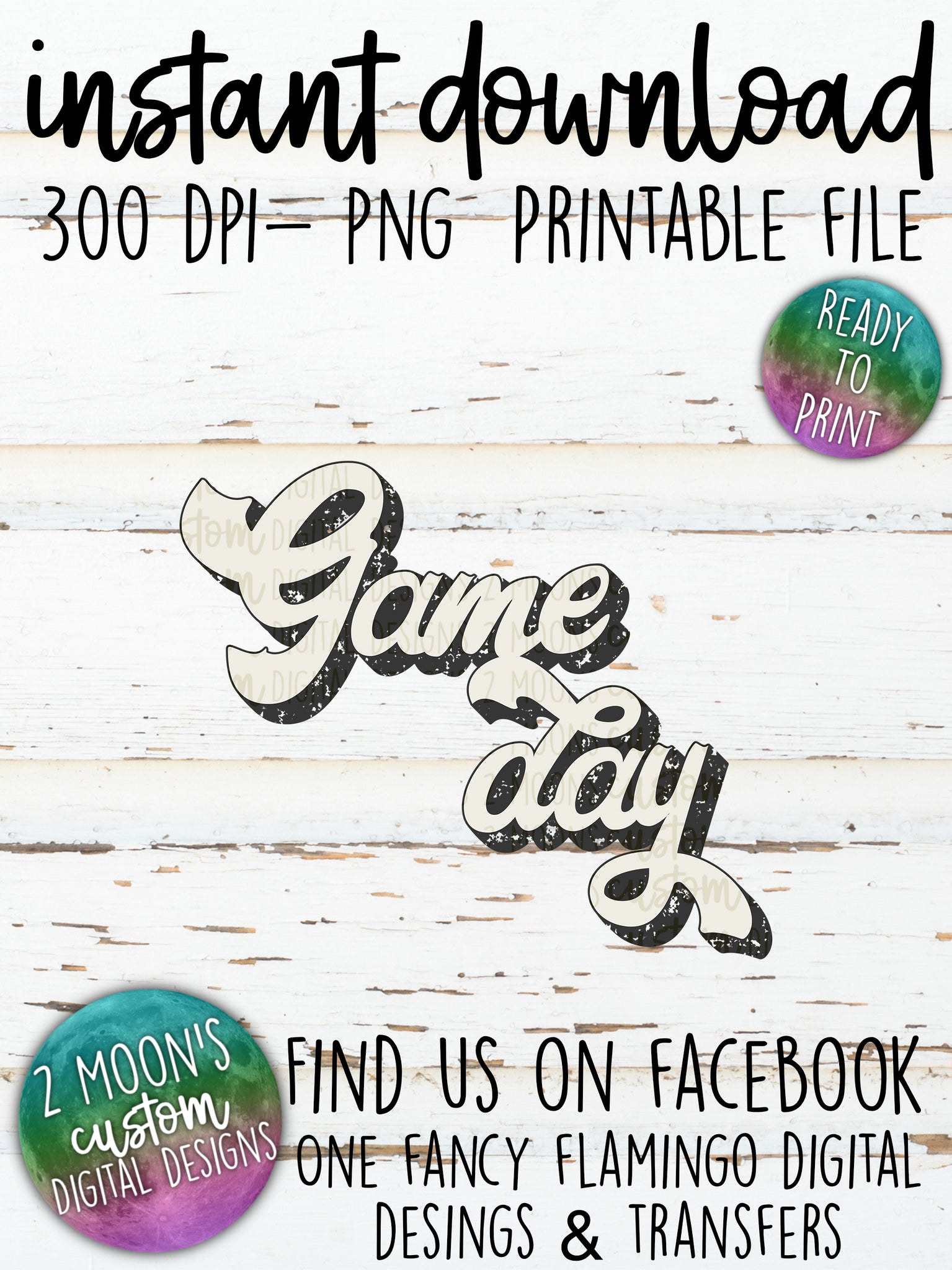 Distressed Game Day- Retro Design