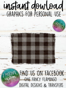 Gray Buffalo Plaid Backgrounds- Add your own text