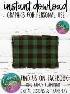 Green Buffalo Plaid Backgrounds- Add your own text