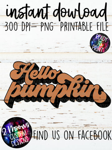 Hello Pumpkin- Fall Design
