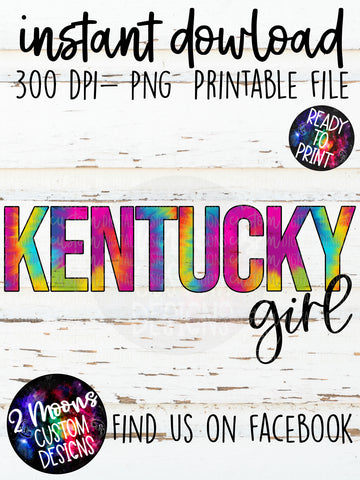 Kentucky Girl- Tie-Dye State