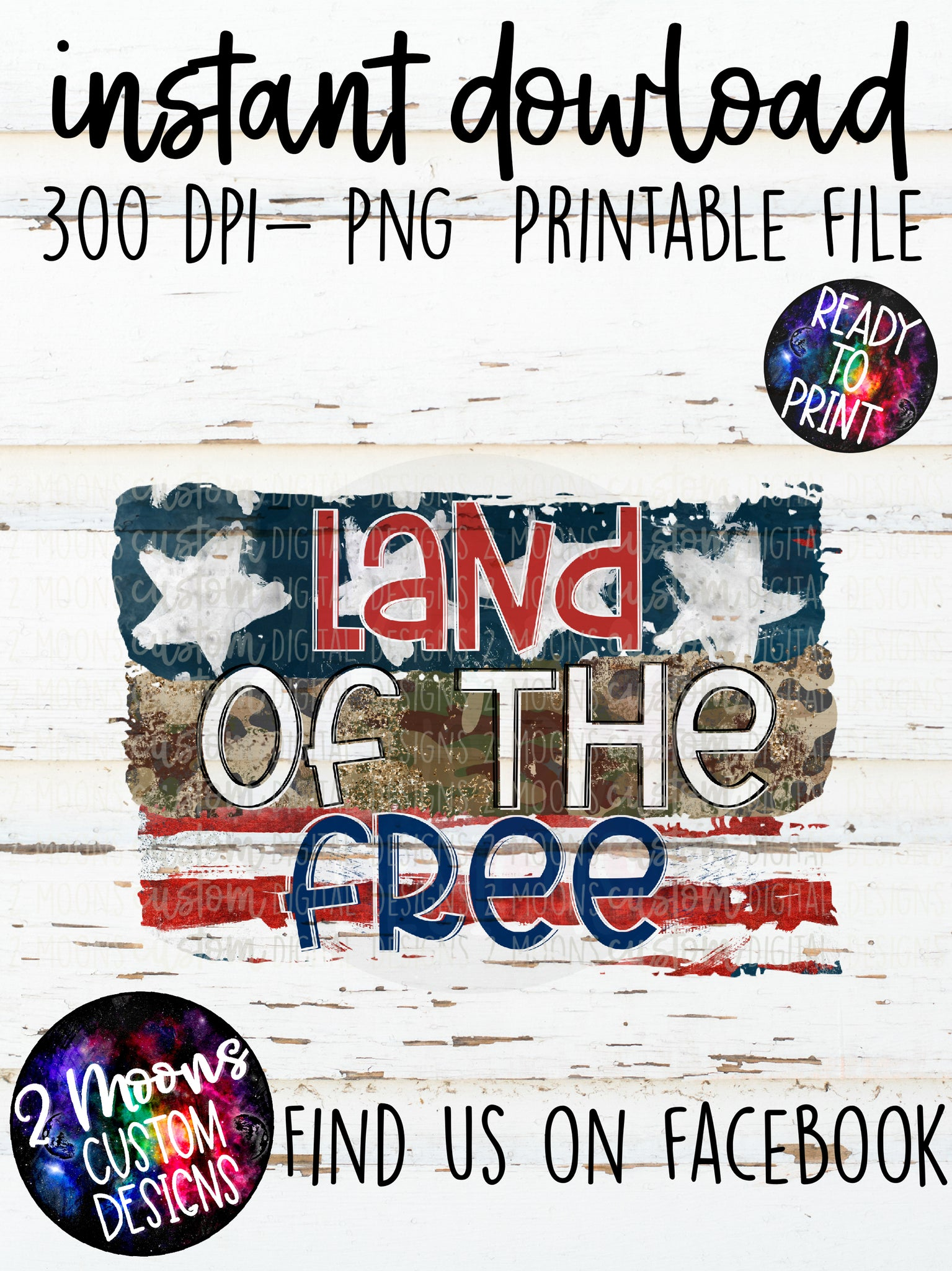 Land of the Free- Patriotic Design