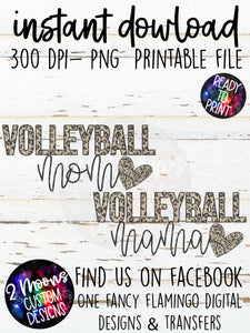 Leopard Volleyball Mom- Bundle