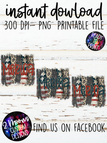 'Merica- Patriotic Brushstrokes- Patriotic Design