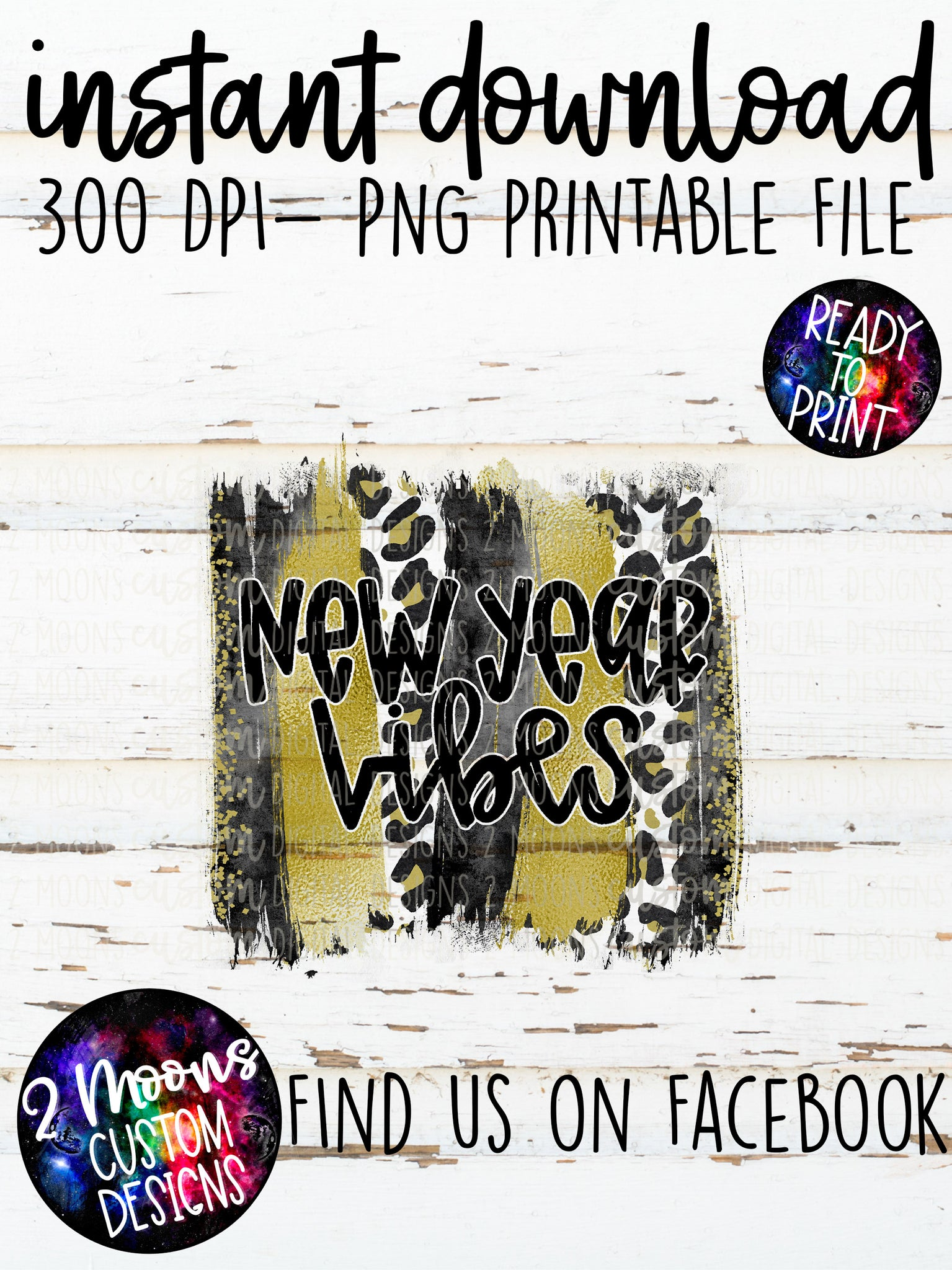 New Year Vibes- New Years Brushstroke