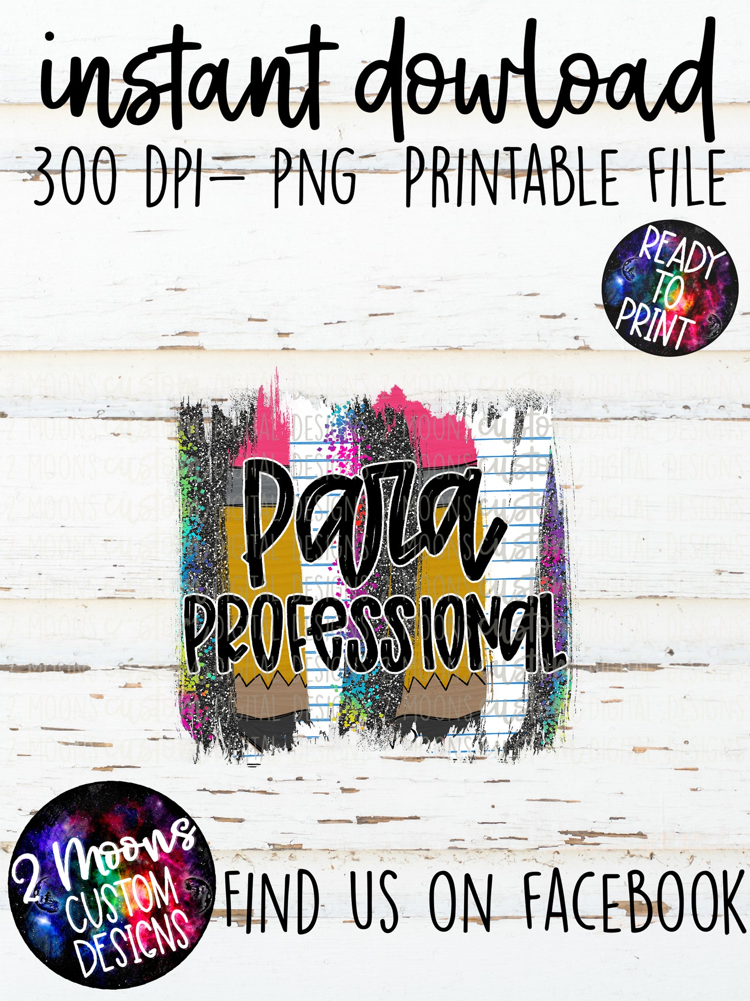Para Professional- teacher design- Back to School Brushstroke