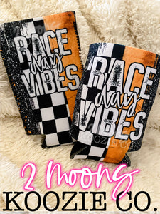 Race Day Vibes- Racing Brushstroke Koozies