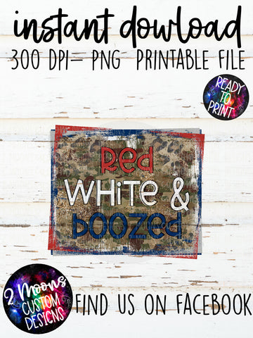 Red White & Boozed- Patriotic Design-