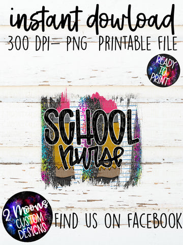 School Nurse- teacher design- Back to School Brushstroke