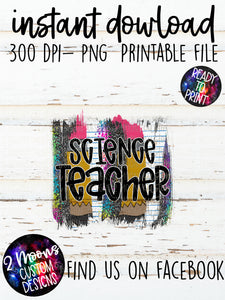 Science Teacher- Back To School Brushstroke
