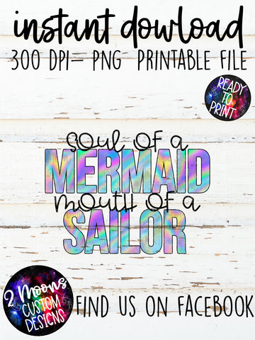 Soul of a Mermaid- Snarky Quote