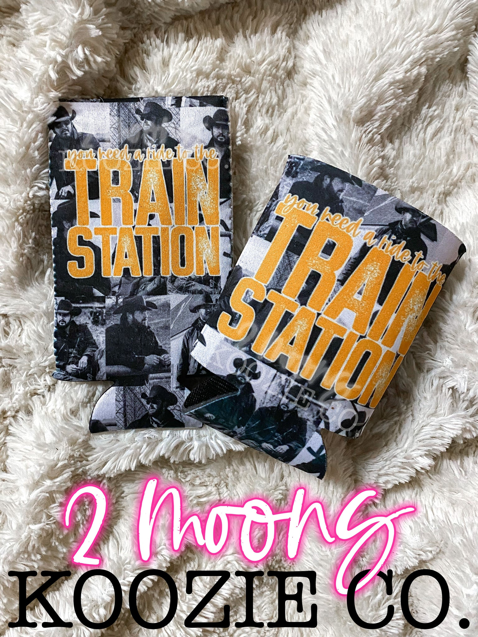 Train Station- Yellowstone Koozies