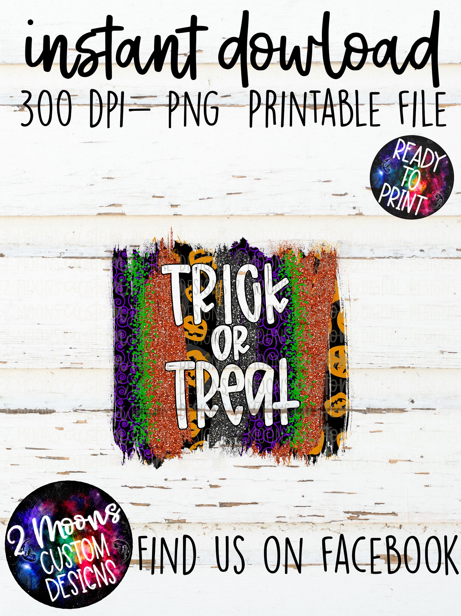 Trick or Treat- Halloween Brushstroke