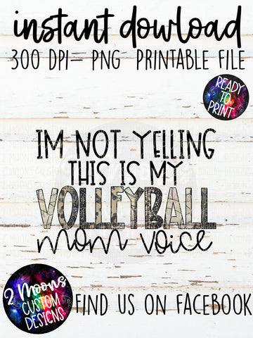 Volleyball Mom Voice- Sports Design