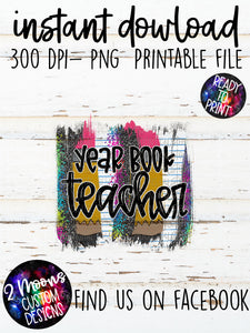 Year Book Teacher- Back To School Brushstroke