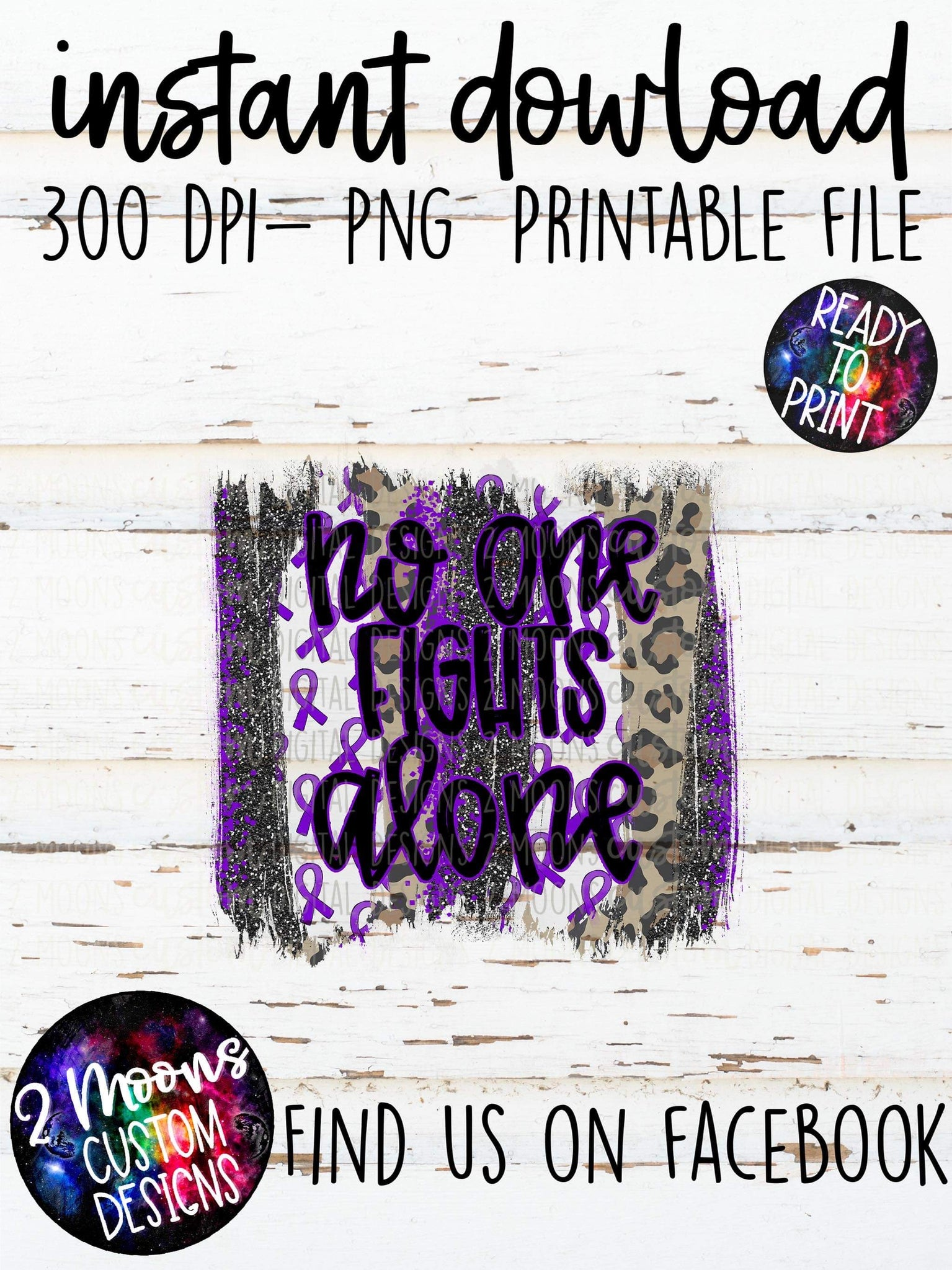No One Fights Alone - Purple - Awareness Design