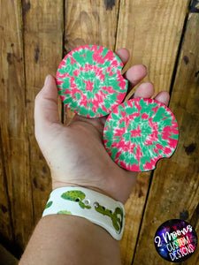 Watermelon Tie-Dye Car Coaster