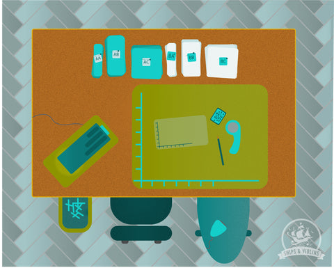 how to layout your sewing space when foundation paper piecing