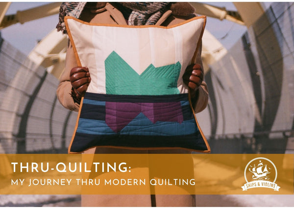 thru-quilting: my journey thru modern quilting, quilting lecture, trunk show quilts, ships and violins, cristina de miranda