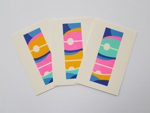 Flight Series Risograph Card Set