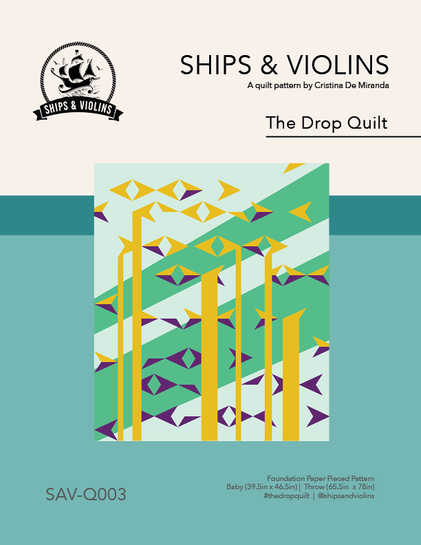 The Drop Digital Quilt Pattern