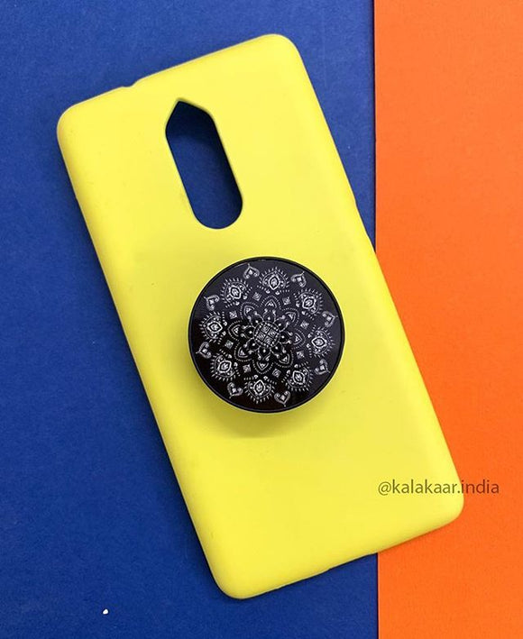 The Yellow Slim Case Cover ❤️ With Mandala Holder - Kalakaar Indiaa