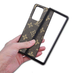 Luxury Branded Leather Phone Case for Samsung Galaxy Z Fold 2 5G