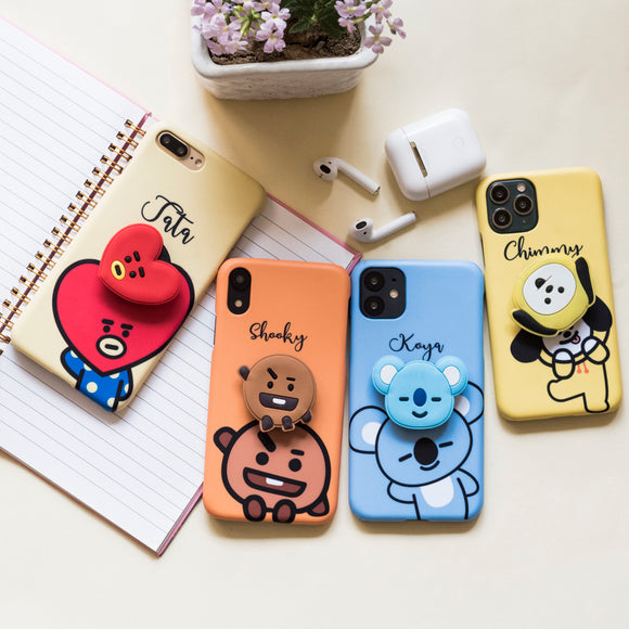 Cute Cartoon Characters Slim Case Cover