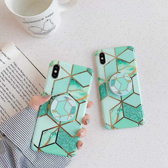 The Marble Affair Slim Case Cover With Holder - Kalakaar Indiaa