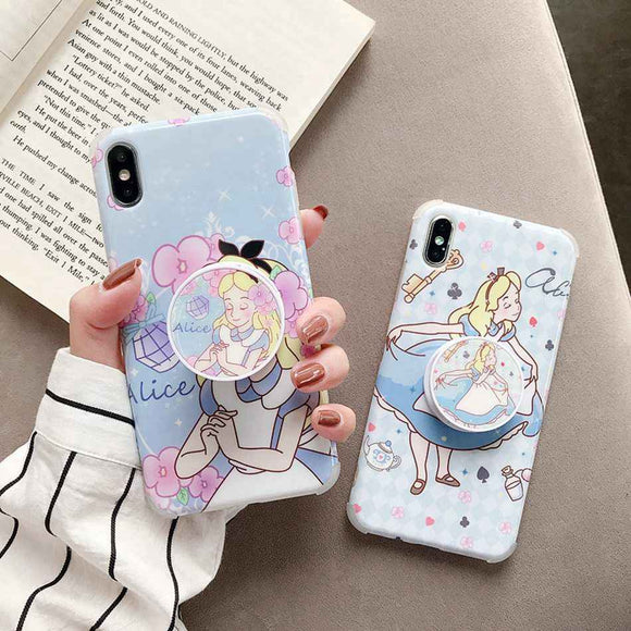 Alice And Cindrella Fairies Slim Case Cover With Holder - Kalakaar Indiaa