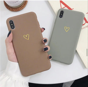The Sandal And Gray Heart Slim Case Cover - Kalakaar Indiaa